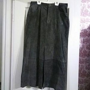 90's Eddie Bauer Washable Suede Skirt